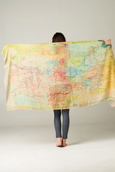 Gorgeous World Map Scarf