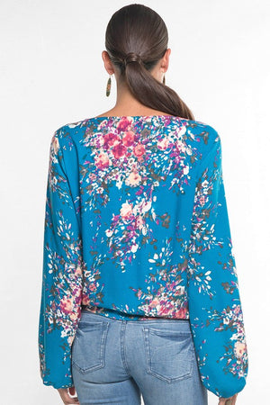 Floral Bishop Sleeve Blouse