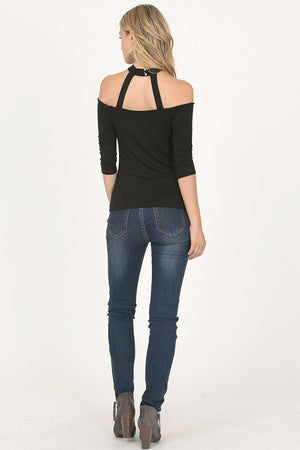 Cut Out Black Tee