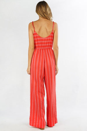 Simone Saddle Stripe Jumpsuit