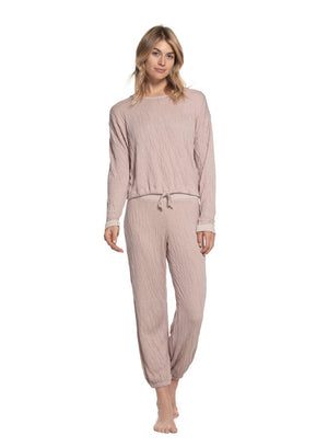 Barefoot Dreams Crinkle Lounge Set Rose