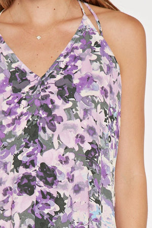 Floral Tie Back Tank