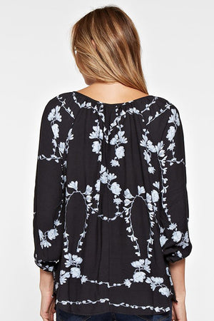Date Night Floral Blouse