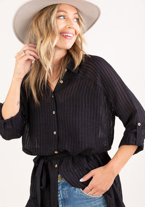 Missy Sheer Button Up Tunic