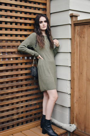 Barefoot Dreams Olive L/S Dress