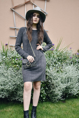 Barefoot Dreams L/S Dress Carbon