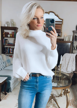 Erin Mock Neck Spring Sweater