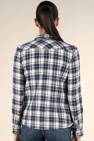 Pocketed Plaid Shirt