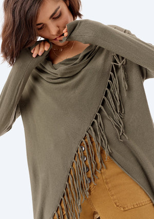 Fringed Elm Sweater
