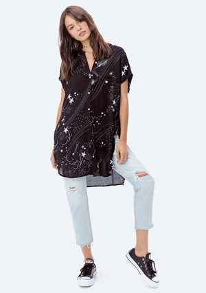Stardust Button-down Tunic