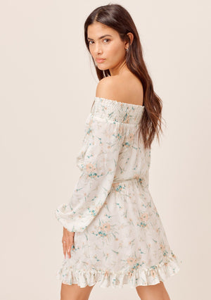 Floral Ruffled Hem Mini