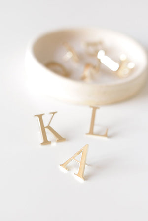 Monogram Pin Brooches