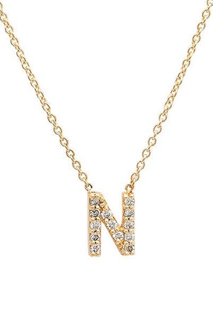 Alphabet Letter Initial Necklace