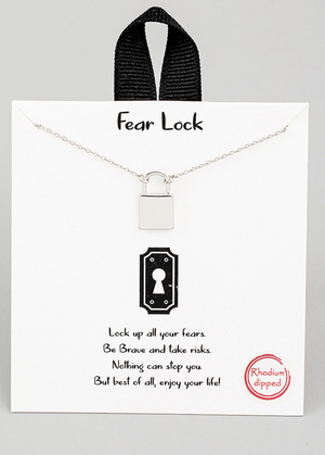 The Perfect Size Padlock Necklace