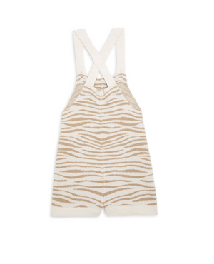 Barefoot Dreams Kids Zebra Shortalls