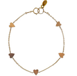 The 5 Hearts Bracelet By Set & Stones