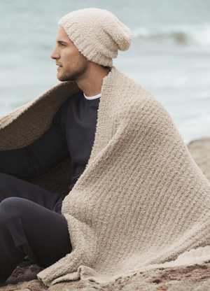 Barefoot Dreams CozyChic Ribbed Throw Sand