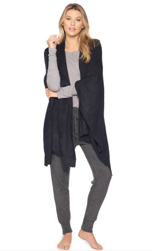 Barefoot Dreams CozyChic Lite Weekend Wrap Black