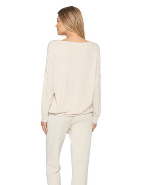 Barefoot Dreams Slouchy Pullover Sand Dune