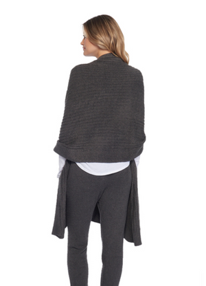 Barefoot Dreams CozyChic Lite Travel Shawl in Carbon