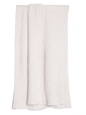 Barefoot Dreams Heathered CozyChic Throw Stone White
