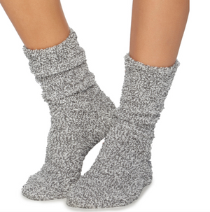 Barefoot Dreams Cozy Socks Graphite Stone