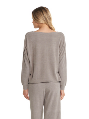 Barefoot Dreams CozyChic Lite Slouchy Pullover Beach Rock