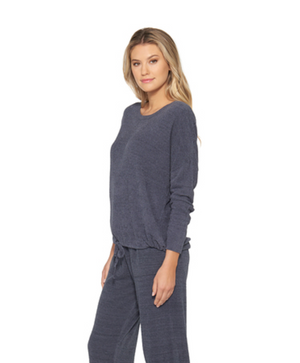 Barefoot Dreams CozyChic Lite Slouchy Pullover Pacific Blue