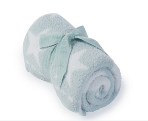 Barefoot Dreams CozyChic Dream Receiving Blanket Aqua Ice