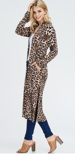 Kamille Animal Print Duster