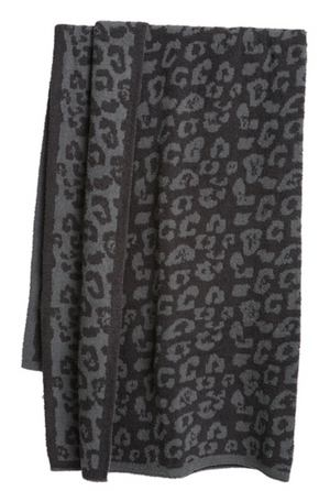 Barefoot Dreams CozyChic Into the Wild Throw Graphite/Carbon