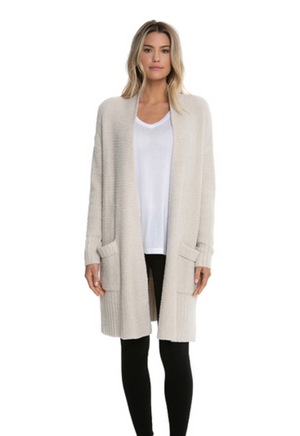Barefoot Dreams Long Weekend Cardi Bisque