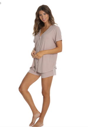 Barefoot Dreams New Piped PJ Set