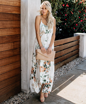 Marisa Water Colour Floral Dress