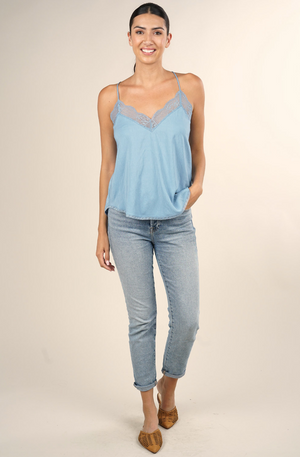 Date Night Cami Chambray