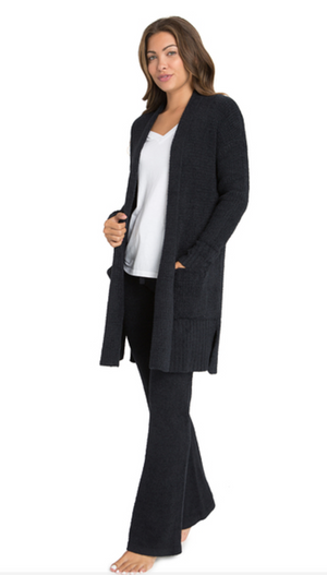 Barefoot Dreams Long Weekend Cardigan Black
