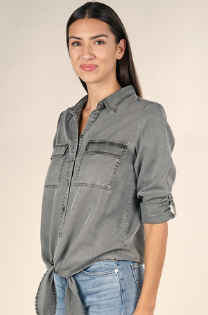 Tencel Button Down Blouse