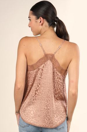 Animal Print Date Night Cami Champagne