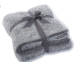 Barefoot Dreams Graphite/White Heathered Throw