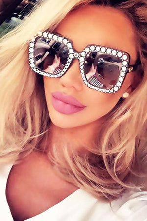 Crystal Frame Sunglasses