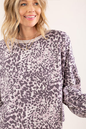 Animal Print Lounge Sweater Light