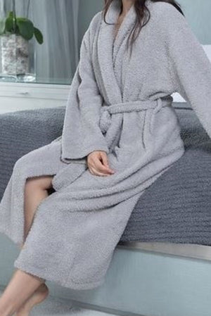 Barefoot Dreams Dove Grey CozyChic Robe
