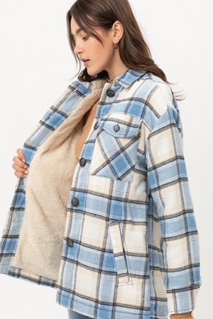 Blue Plaid Shacket