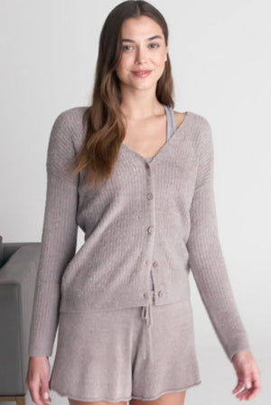 Barefoot Dreams V-Neck Button Cardigan