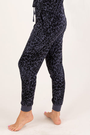 Animal Print Lounge Pants Dark
