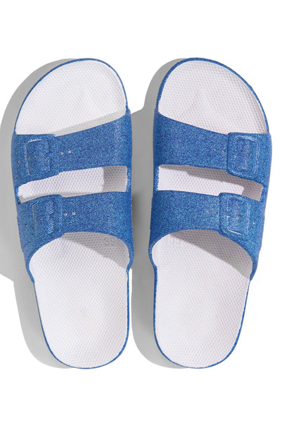 Moses Denim Print Sandals