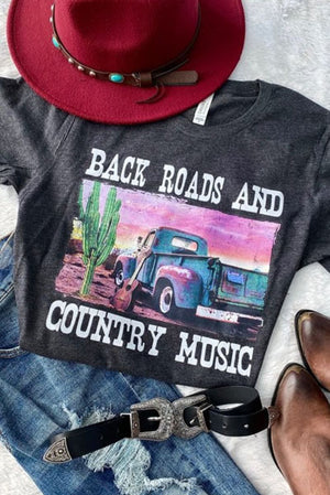 Back Roads and Country Music Tee