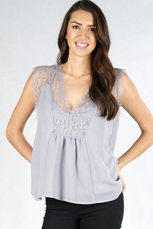 Icy Blue Baby Doll Top