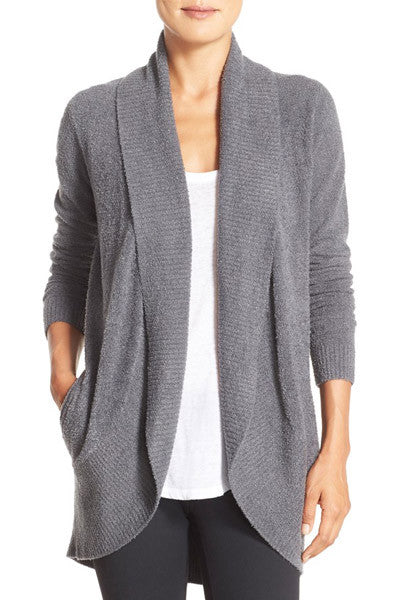 Barefoot Dreams CozyChic Lite Circle Cardi in Pewter