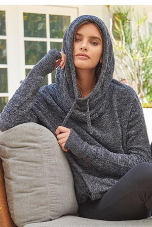Barefoot Dreams Pebble Beach Pullover Black